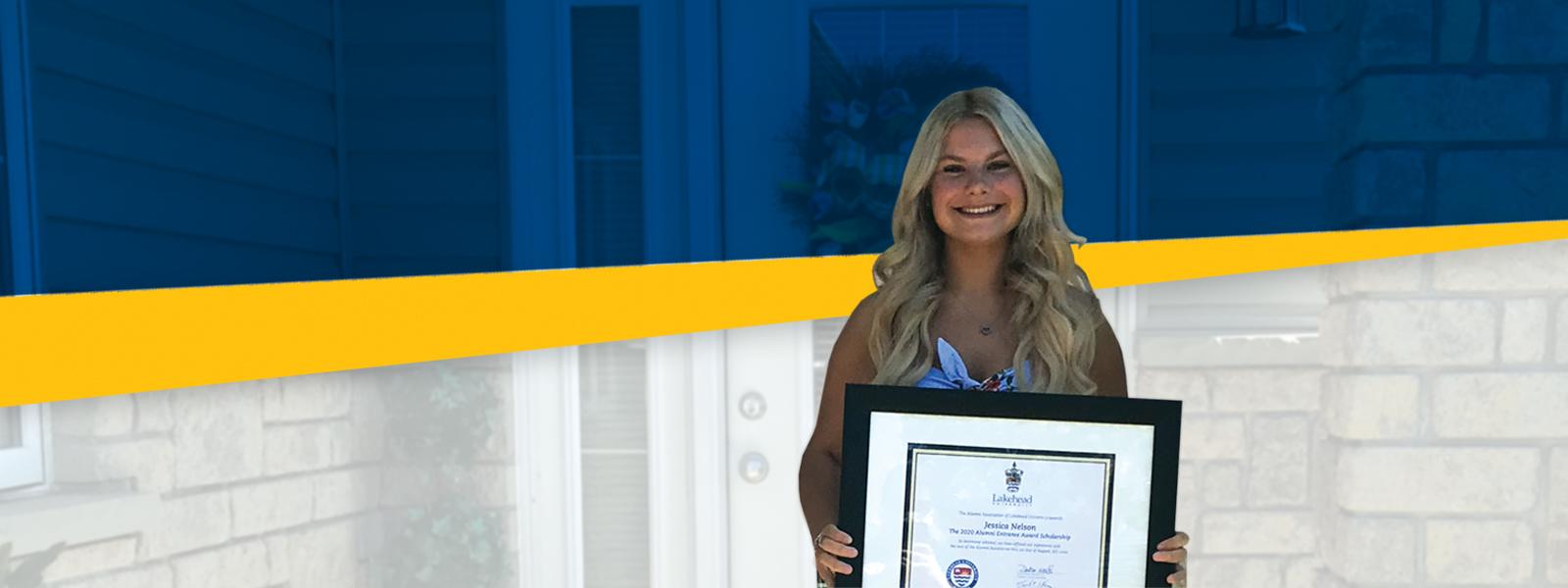 Our Alumni Entrance Award Winner Jessica Nelson