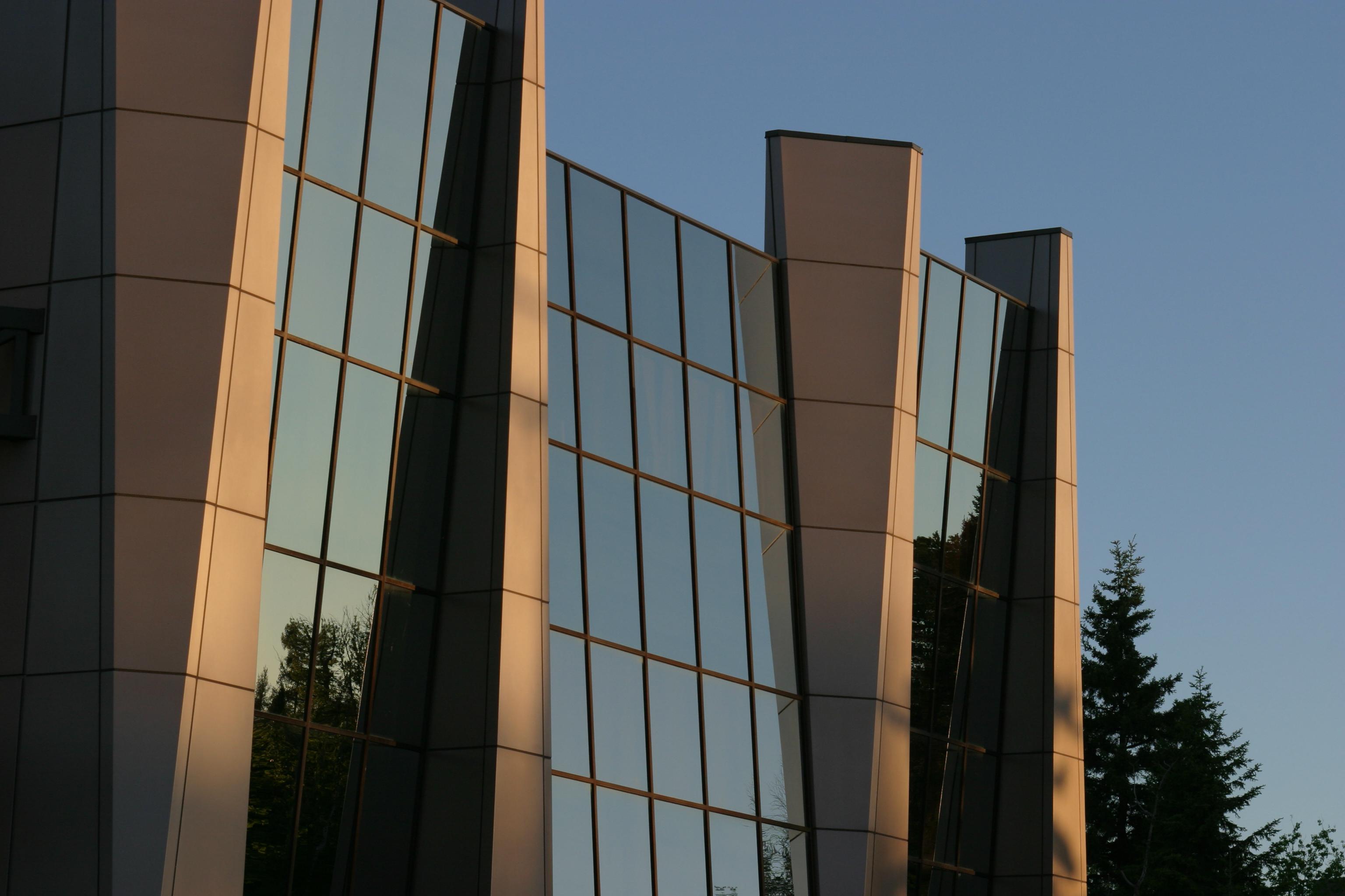 Close-up of Alumni House Exterior