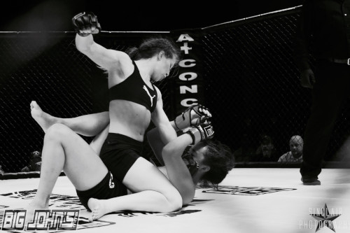 Photo of Emma Horner in a fight.