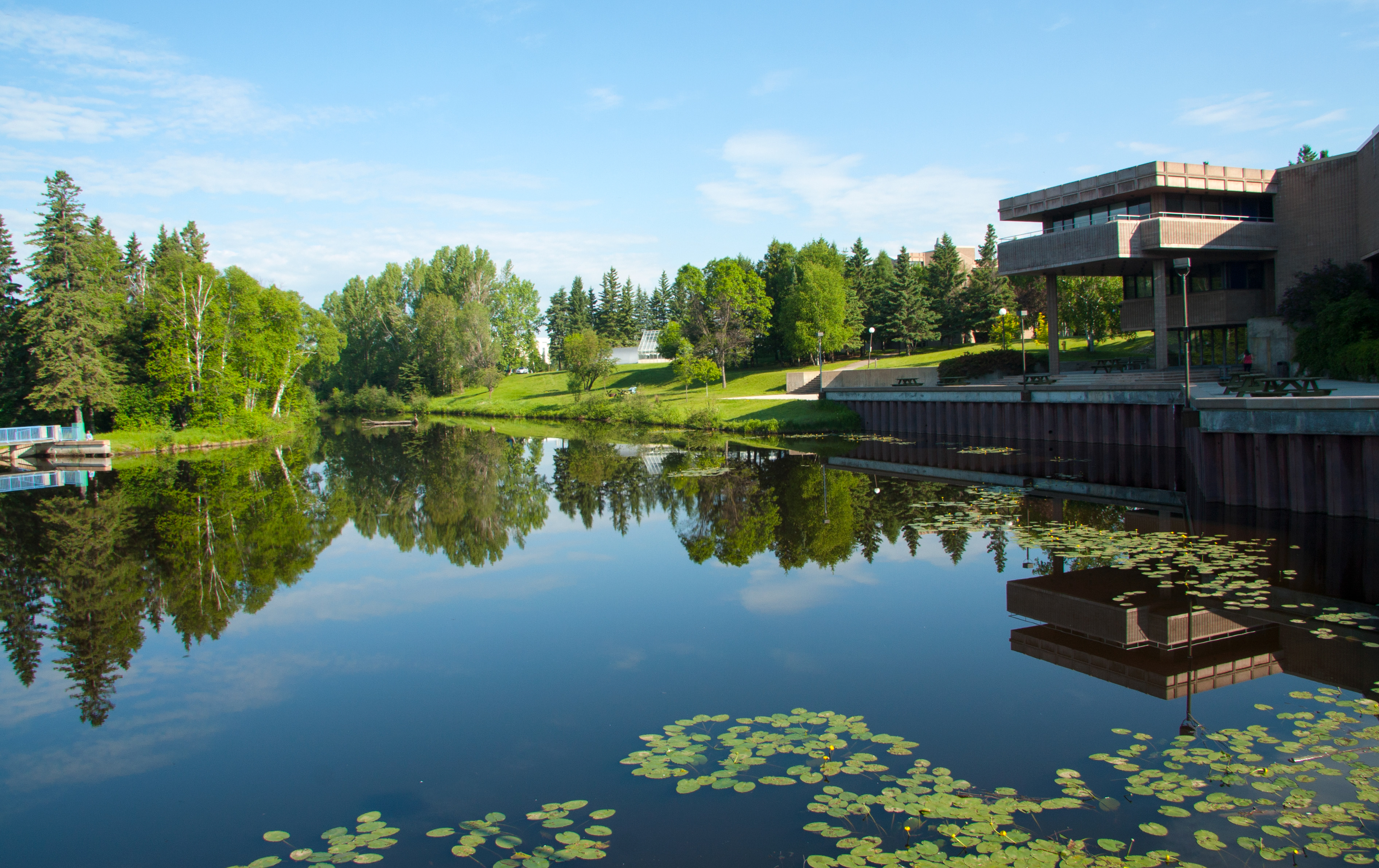 Thunder Bay campus, Lake Tamblyn in summer
