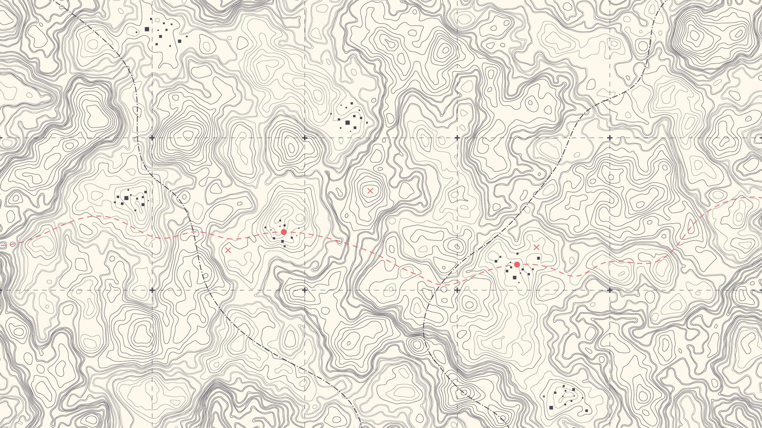 Vintage contour map
