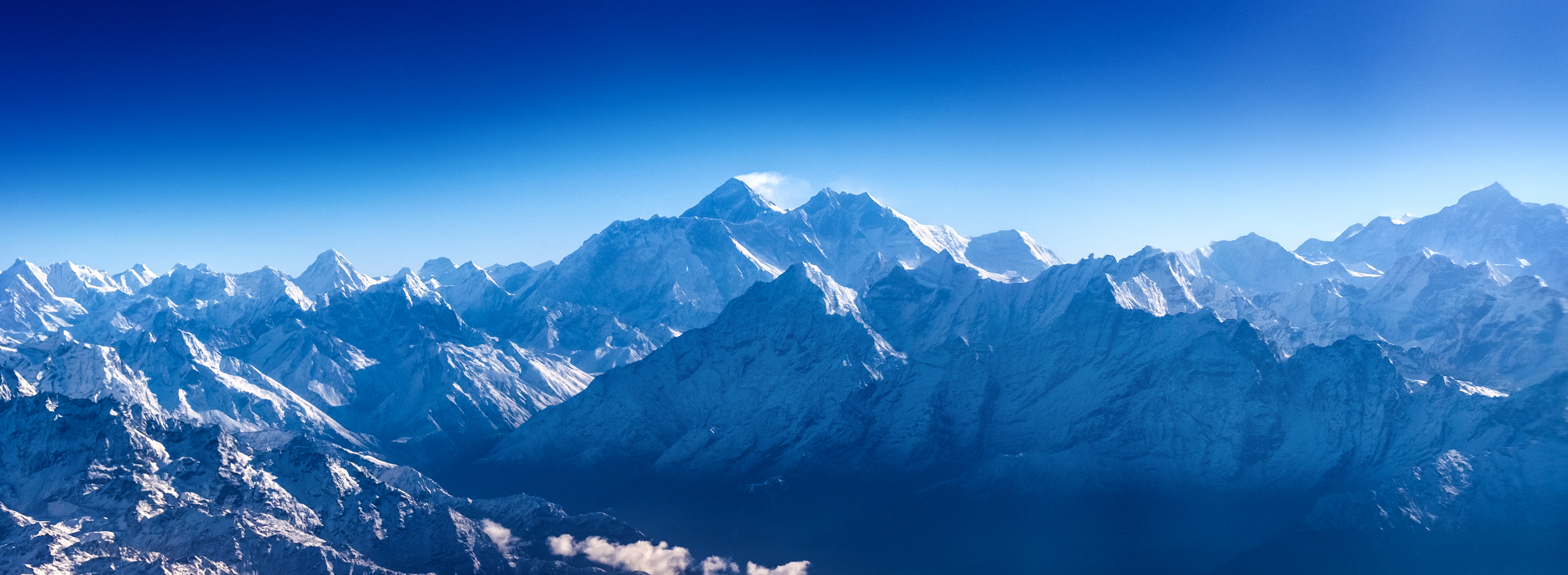 Panoramic view of Himalayas with Mount Everest in Sagarmatha National Park, Nepal