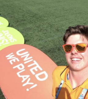Hayden Gorman on the field  at the Pan-Am Games