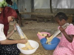 Fatima Ahmed volunteering in Botswana