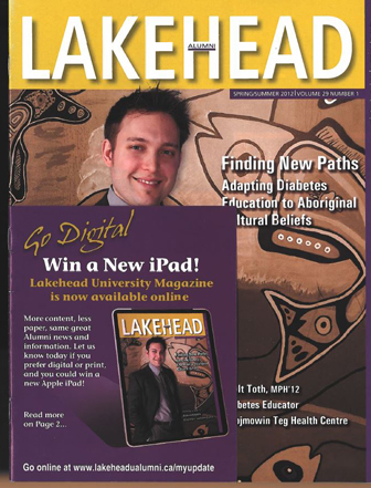 The cover features an ipad contest and info about campus