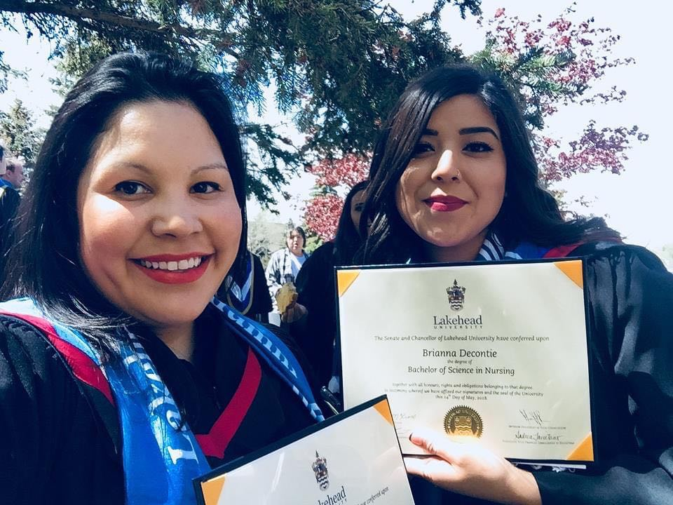 Lakehead Native Nurses - graduation Day