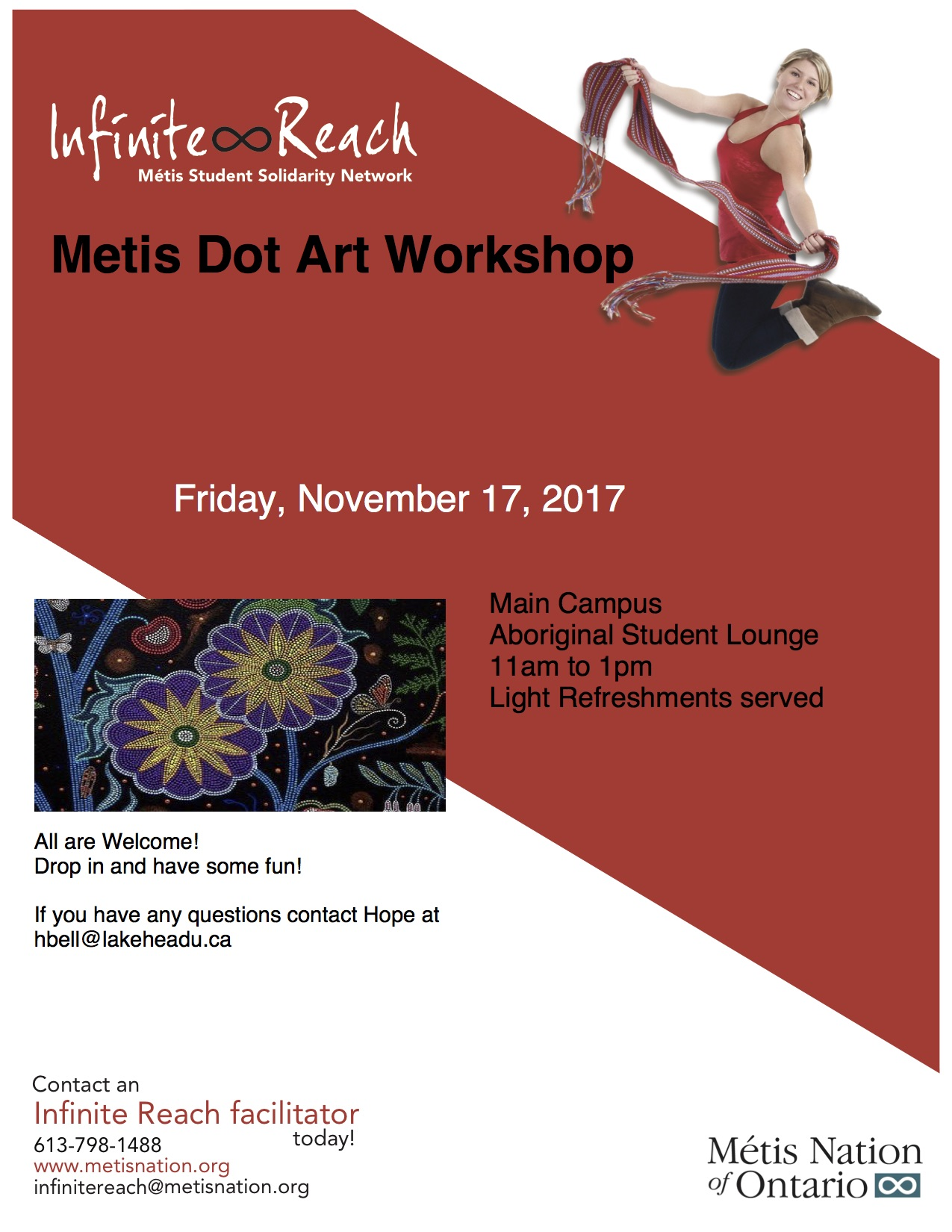 Metis Dot Art Workshop Lakehead University
