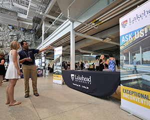 Lakehead University information and recruitment booth