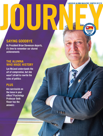 Former president Brian Stevenson graces the cover of Journey Magazine