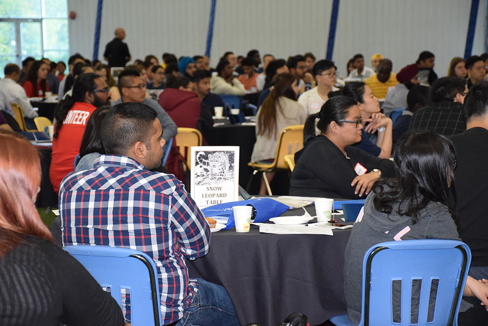 Around 400 international students attended orientation at the Hangar to learn more about Lakehead University, Thunder Bay and Canada.