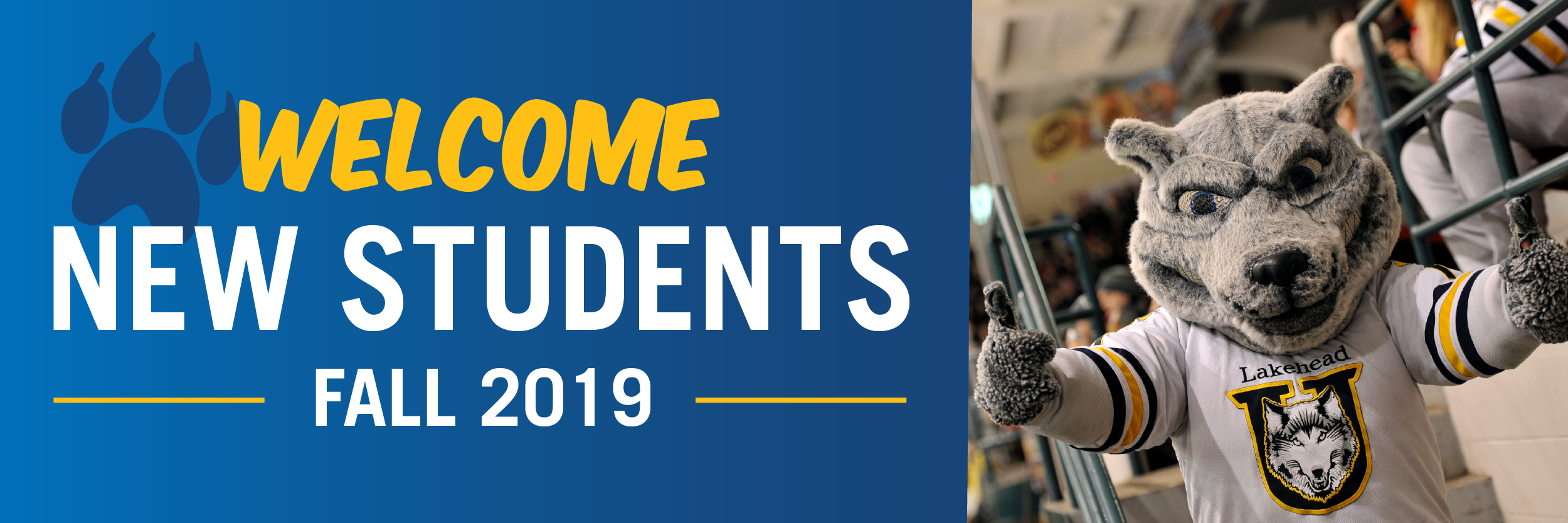 Welcome New Student banner