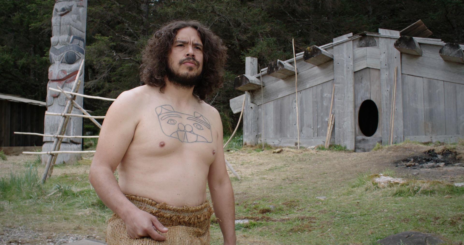 William Russ plays Kwa in Gwaai Edenshaw and Helen Haig-Brown's film Sgaawaay K'uuna-Edge of the Knife