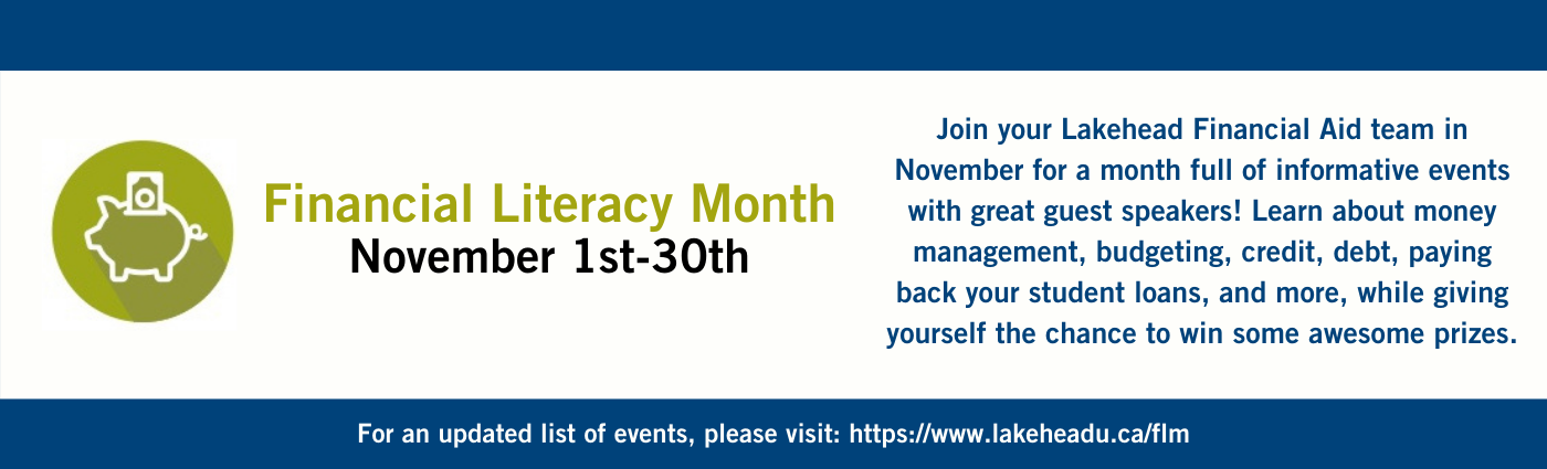 Financial Literacy Month is November 1 to 30.