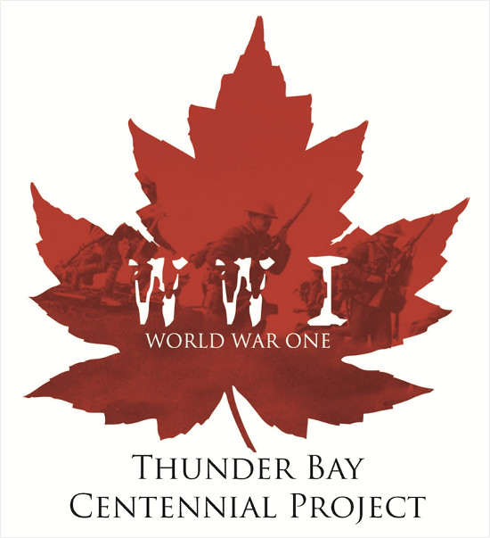 World War One Thunder Bay Centennial Project Logo