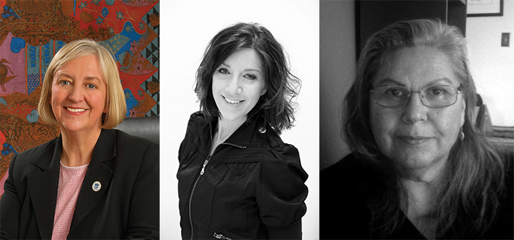 Dr. Lesley Lovett-Doust, Monica Virtue and Shelly Bressette, three upcoming speakers in the Research Centre for Sustainable Communities speaker series.