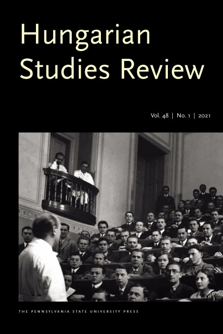 black and white photo of journal cover Hungarian Studies Review