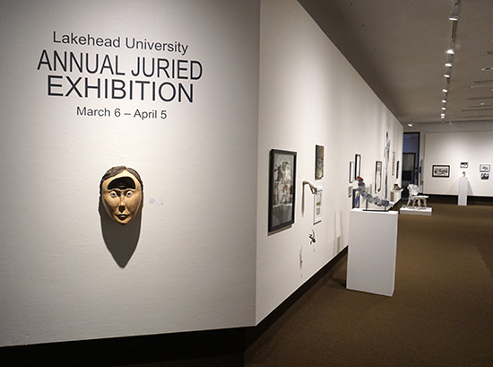 Lakehead University students artwork displayed in the Thunder Bay Art Gallery