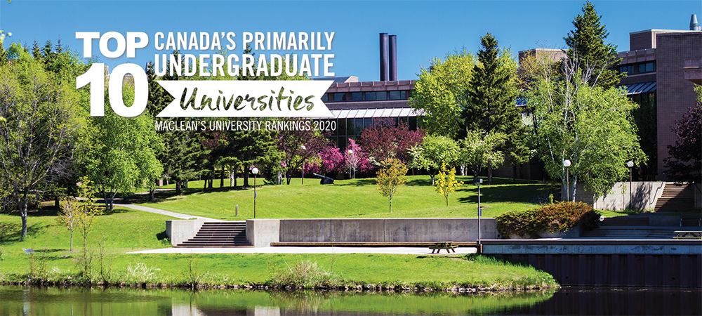 Lakehead University has been ranked top 10 Canada's primarily undergraduate universities