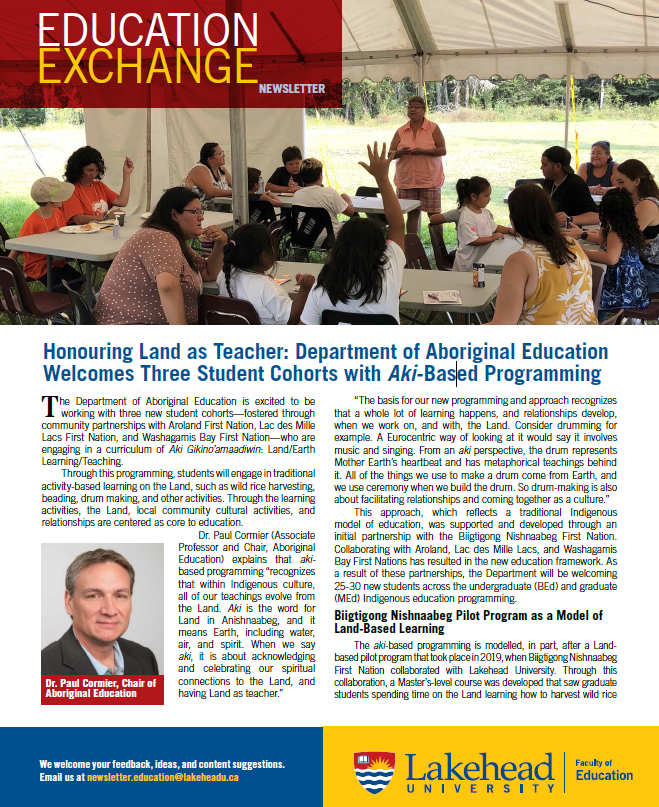 Education Exchange the newsletter of the Faculty of Education