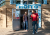 Students exit The Hoito, a Finish pancake house and restaurant