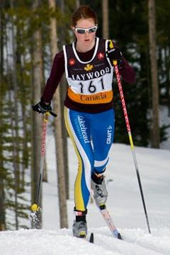 Britt Bailey skiing