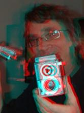 Reg Nelson profile photo. Best viewed with red and cyan 3D glasses.