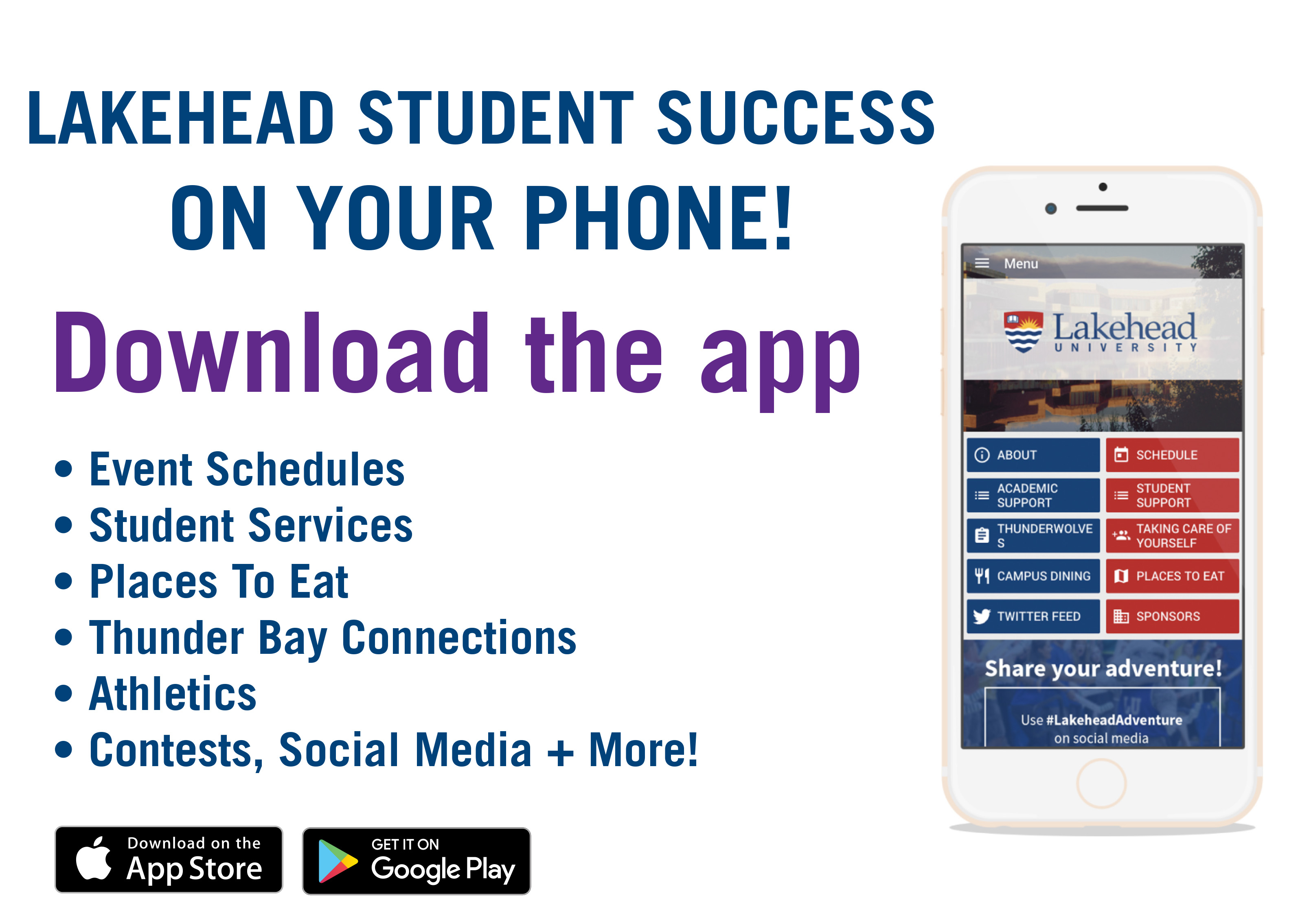 Lakehead Student Success App Promotion Poster