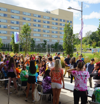 A group of students at a Lakehead event on Orillia campus