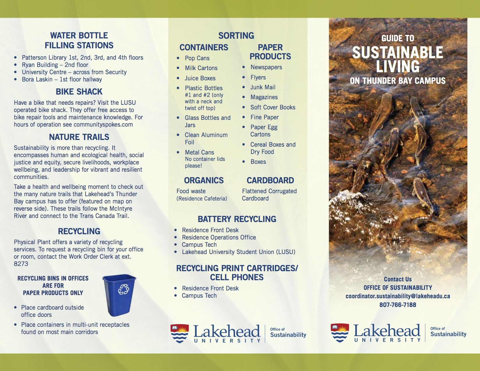 Sustainable Living Brochure