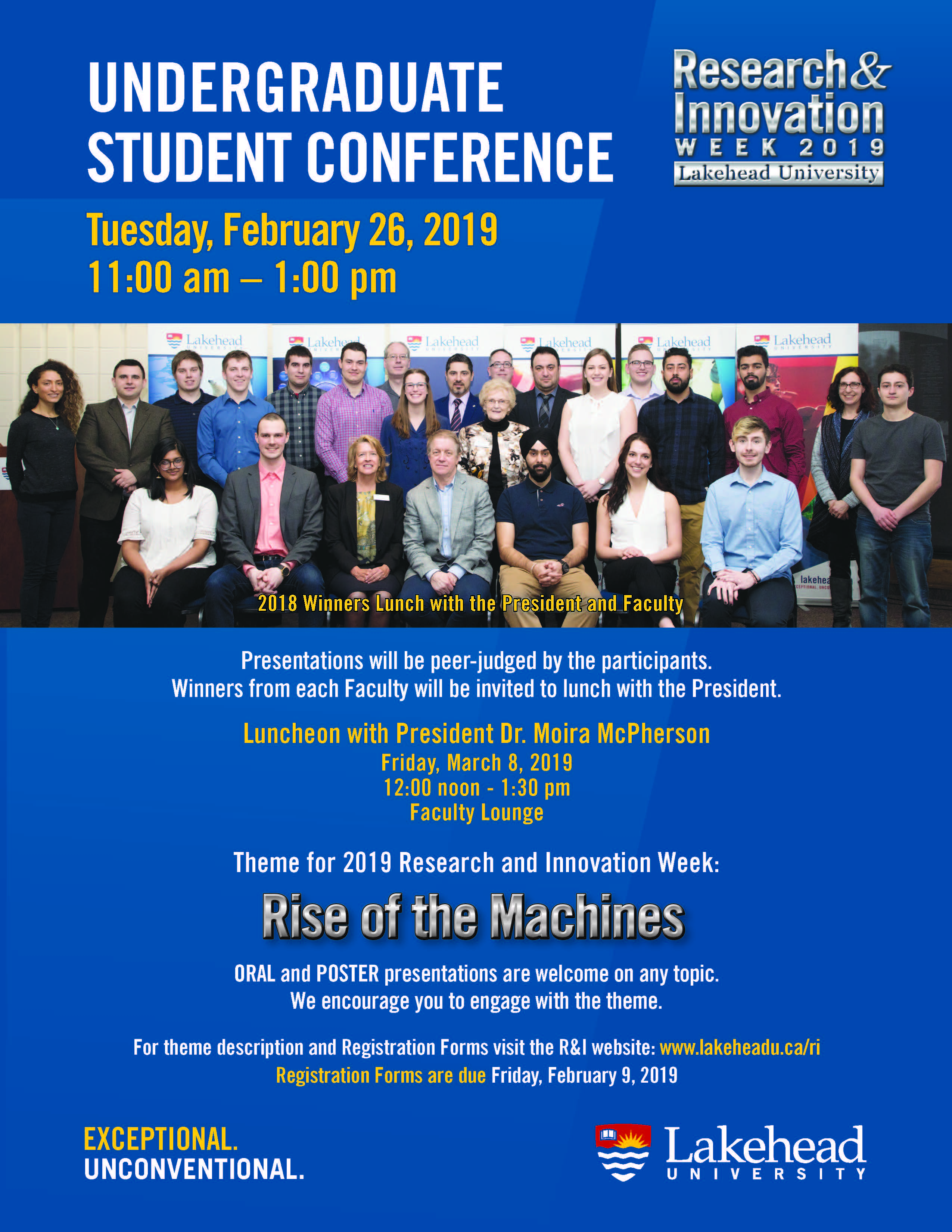 Undergraduate Student Research Conference 2019