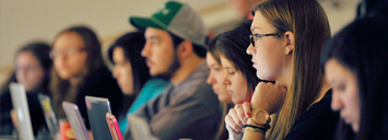 Students learning in Lecture Theatre (Orillia Campus)