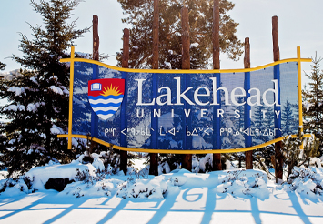 lakehead university crest and watermark