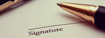 signature required for application