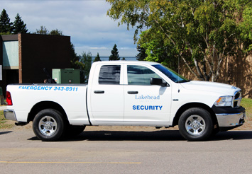 Security Truck Parked in lot