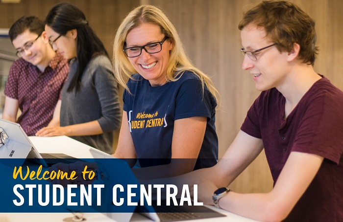 Student Central Professional Assisting Student