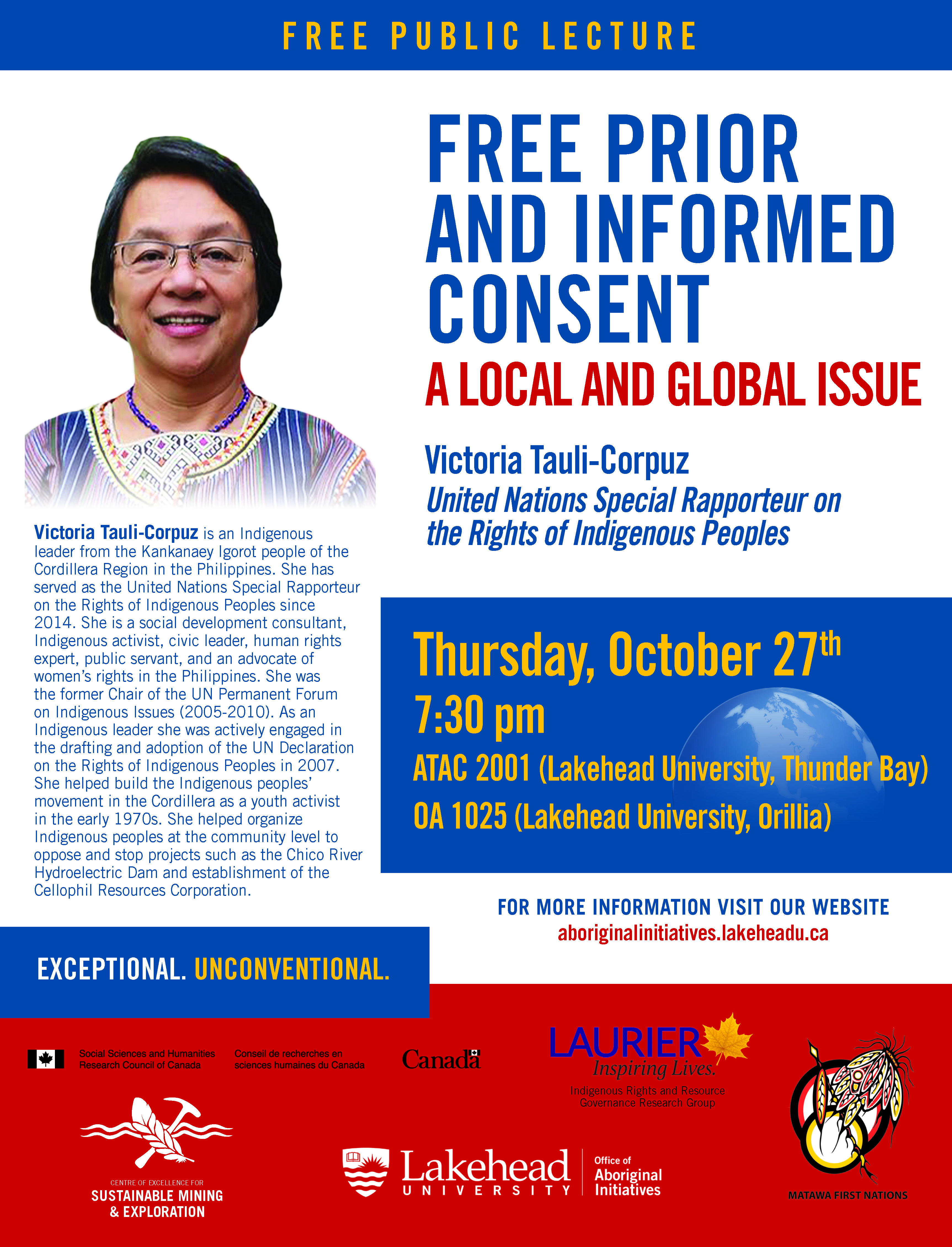 Poster of Free Prior and Informed Consent: A Local and Global Issue with Victoria Tauli-Corpuz