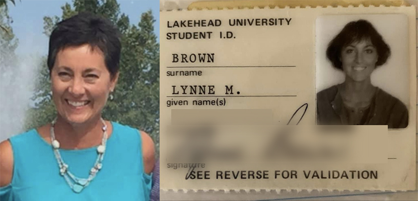 Lynne Brown with her student ID