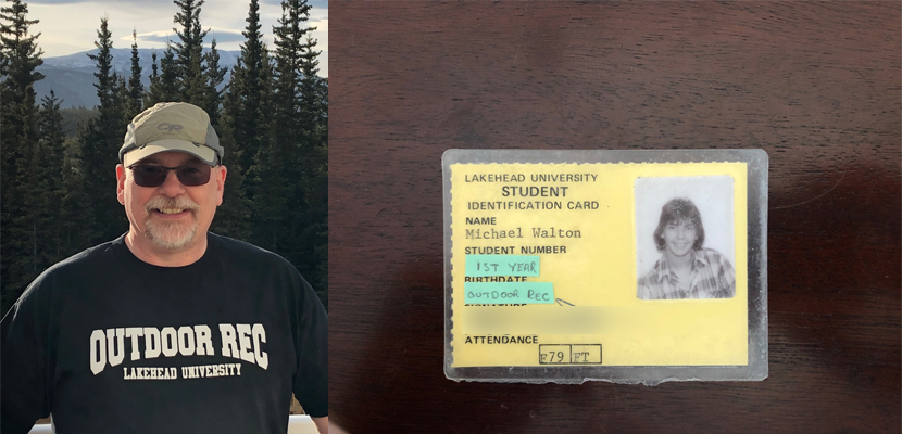 Lakehead Alumn Mike Walton with his 1980's student card