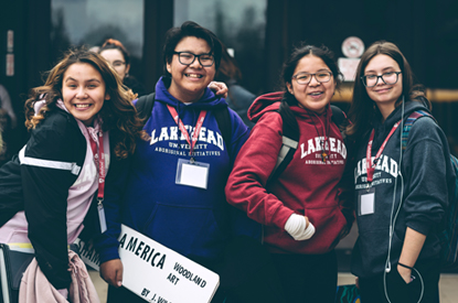 Smiling students on Lakehead