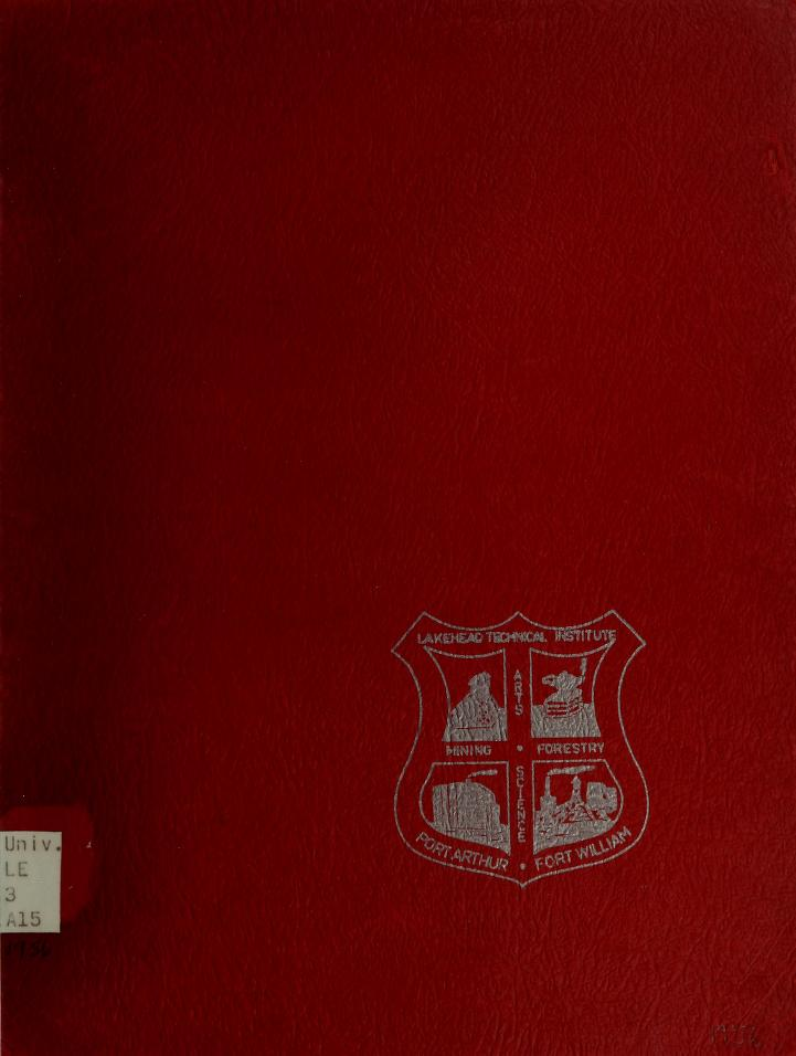 Lakehead Technical Institute Yearbook Cover from 1956