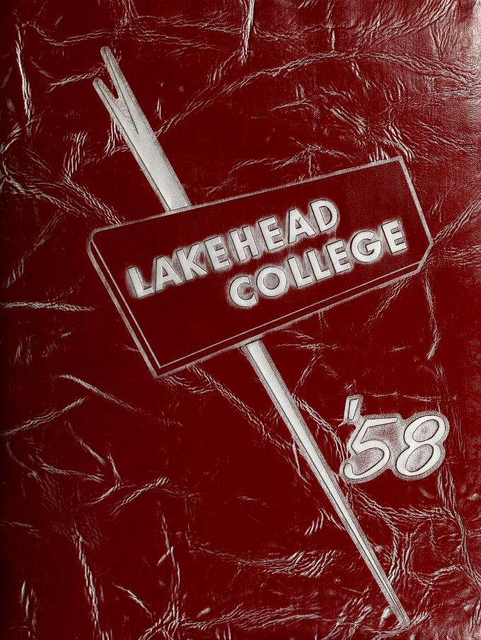 Lakehead Technical Institute Yearbook Cover from 1958
