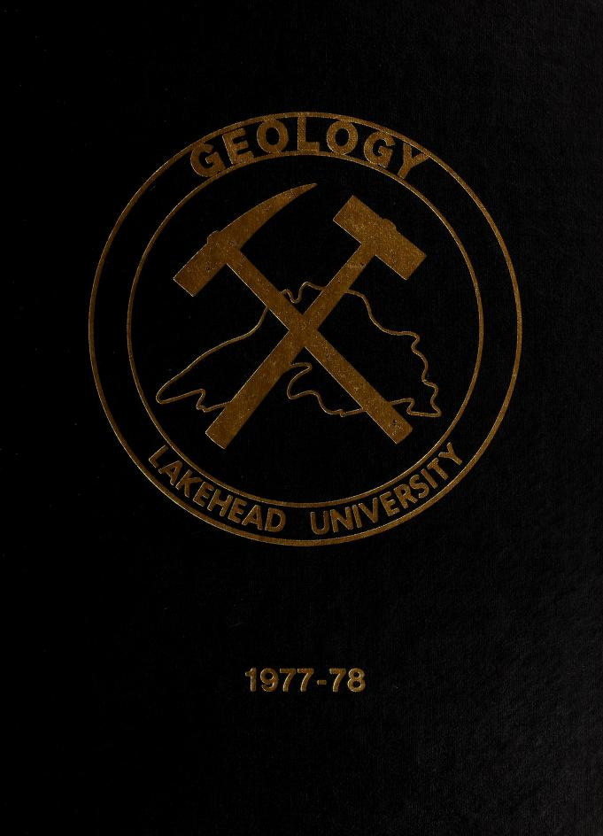 Lakehead University Yearbook Cover from 1978
