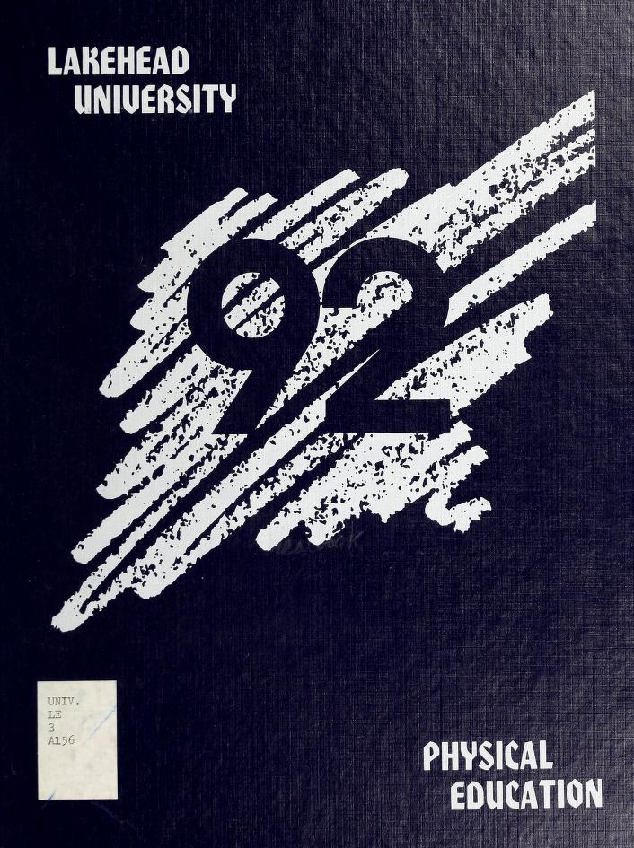Lakehead University Yearbook Cover from 1992