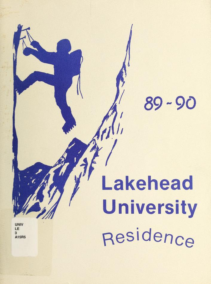 Lakehead University Yearbook Cover from 1990