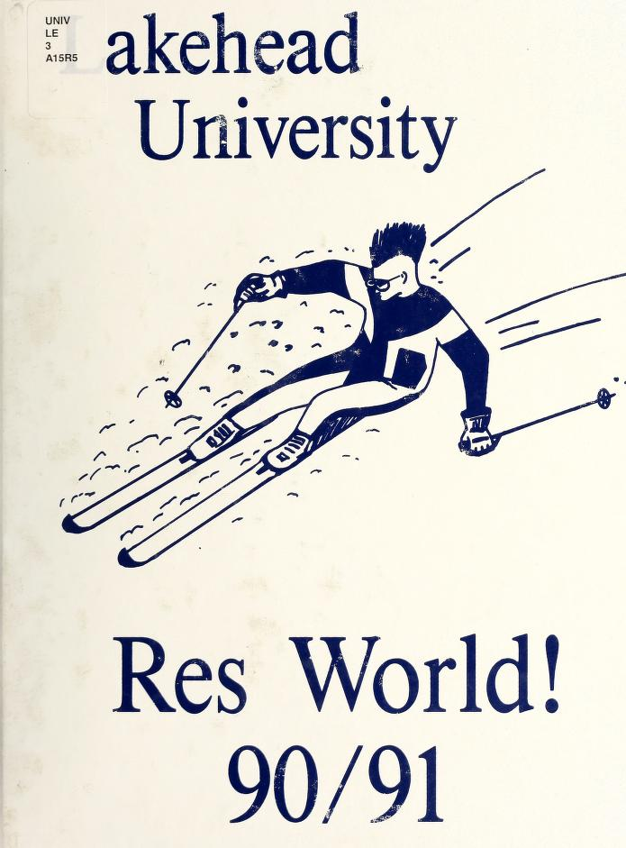 Lakehead University Yearbook Cover from 1991