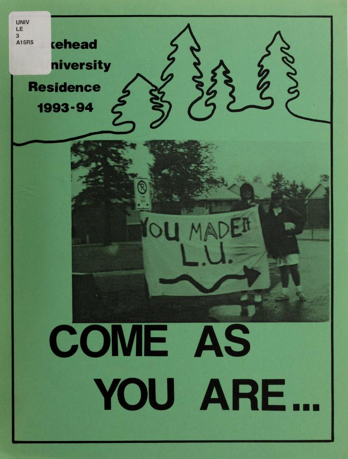 Lakehead University Yearbook Cover from 1994