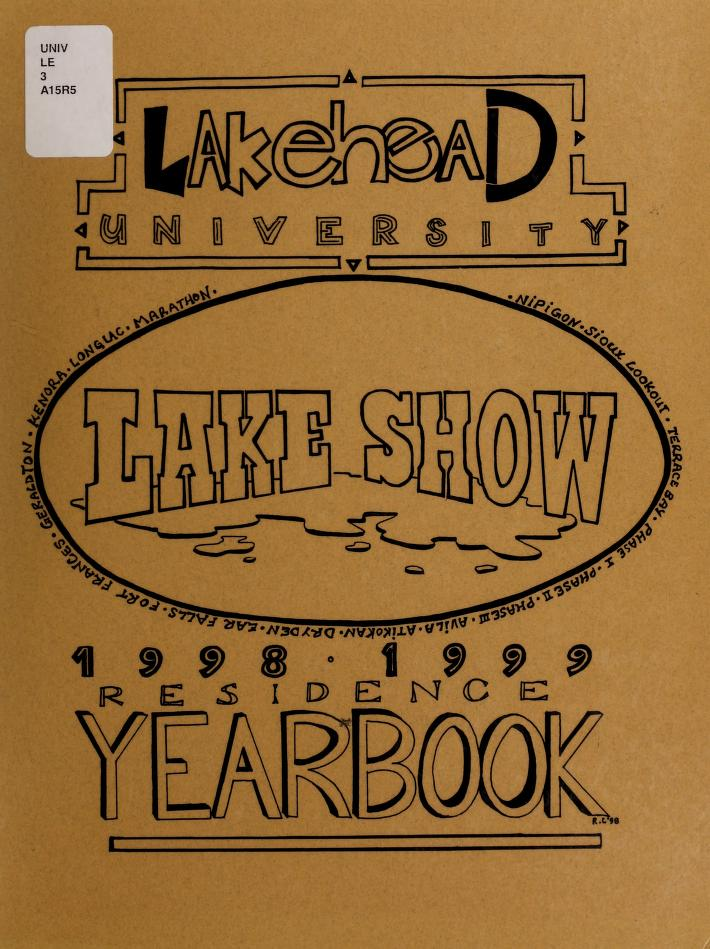Lakehead University Yearbook Cover from 1997