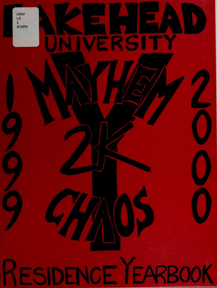 Lakehead University Yearbook Cover from 2000
