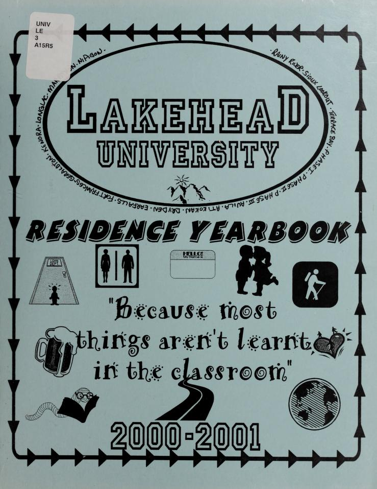 Lakehead University Yearbook Cover from 2001