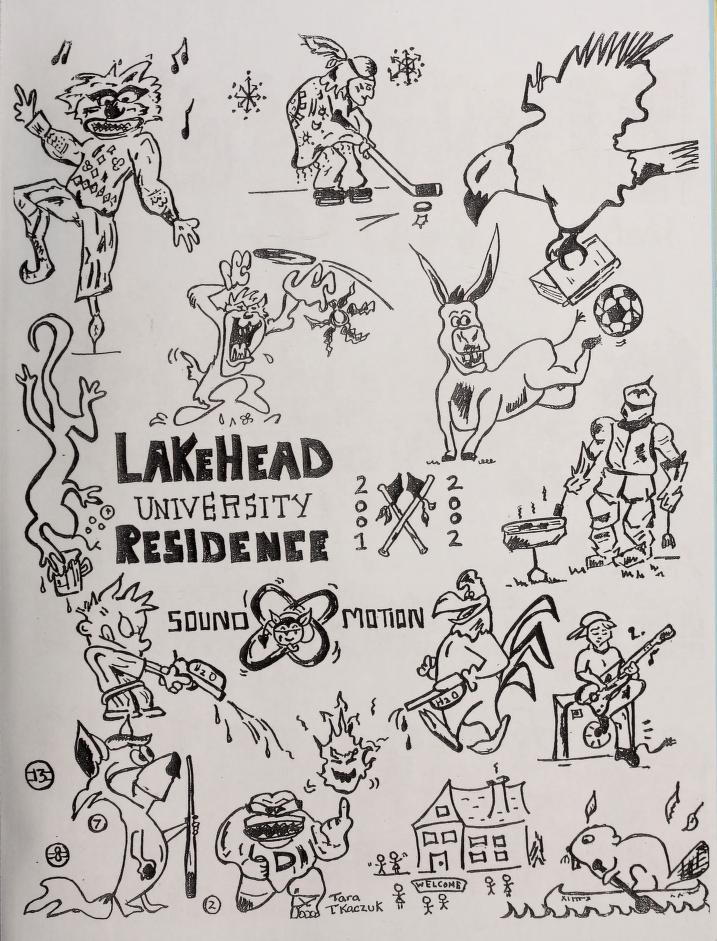 Lakehead University Yearbook Cover from 2002